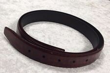 Fashion Men's Genuine Leather  Dark Red Belt 47""