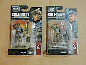 Mega Construx Call Of Duty Recon & Torque Series Four Figure Lot Set NIB