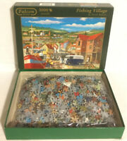 Falcon DeLuxe Fishing Village By Derek Roberts 1000 Piece Jigsaw Puzzle Complete