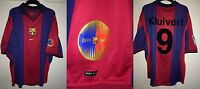 *XL* 1999 BARCELONA Home Centenary KLUIVERT #9 Football Shirt