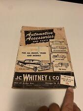 Vintage J.C. WHITNEY 1958 Catalog #136 AUTOMOTIVE PARTS & ACCESSORIES 1950's