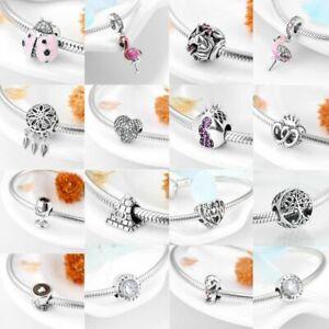 Charms Anhänger für Pandora Armbänder Echt Silber 925 Beads Gemischte Themen Neu