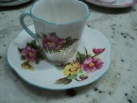 SHELLEY BELOGNIA DEMITASSE CUP & SAUCER