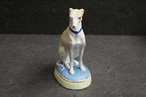 Antique German Bisque Italian Greyhound Sitting Dog Figurine