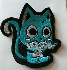 Fairy tail 'Happy' cat embroidered iron on patch