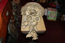 LARGE Carved Resin Wall Shelf Flowers Bird Pine Cones Highly Detailed
