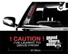GTA V 5 grand theft auto JDM stance sticker vinyl decal bumper window car