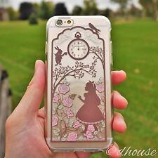 Japanese Soft TPU Clear Case Alice in Wonderland Rabbit for iPhone 6 & iPhone 6s