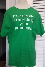 "GILDAN ""I'm Silently Correcting Your Grammar"" Unisex T Shirt top Adult L cotton"
