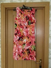 Connected Apparel sleeveless knee length summer dress size 6 vgc stretch fitted