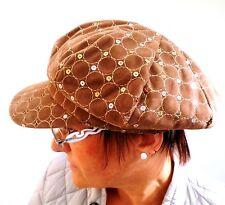 femmes Casquette à visière beige marron velouté Chapeaux Bonnets pour Fmmes
