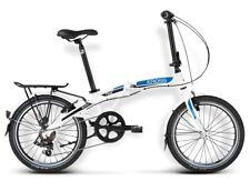 "Folding City Bicycle Kross FLEX 2.0 20"" white - blue - black Mat"