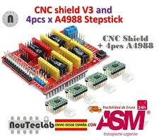CNC Shield V3 Expansion Board + 4pcs A4988 Stepper Motor Driver for 3D Printer