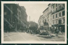 Roma Città Piazza di Spagna Tram COLLA Foto cartolina QT1927