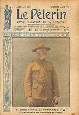 Portrait General J/ Joseph Pershing American Expeditionary WWI 1917 ILLUSTRATION
