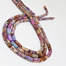 NELLYS Strang Impressionen Jaspis 6x12mm lila Röhrchen/Walzen Perlen