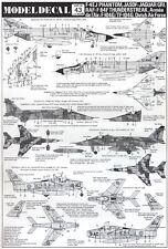 NEW Modeldecal 43 1:72 RAF Sepecat Jaguar GR.1 - F-84F - F-104G - F-16 - F-4EJ