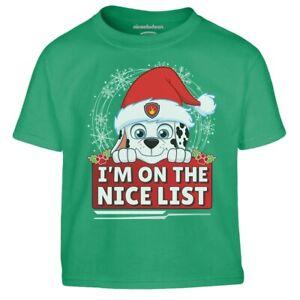 Paw Patrol Marshall Ugly Christmas I M On The Nice List Kinder Jungen T-Shirt