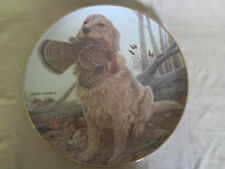 DUSTY - GOLDEN RETRIEVER collector plate JOHN RUTHVEN Hunting Dogs RARE