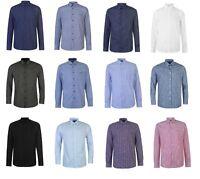 MENS DESIGNER PIERRE CARDIN LONG SLEEVED DRESS SHIRT BLOUSE S M L XL XXL 3XL