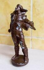 """6.5"""" CCCP Monument STRATONAUT Cast Metal Statue Soviet Space pilot flier Russian"""