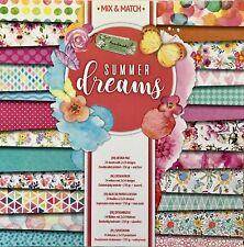 🥇bloc 24 papier feuille scrapbooking recto verso multicolore summer 250gsm 🥇