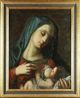 17. Jh. Madonna, Gemälde, Heilige Maria mit Christus, Ikone
