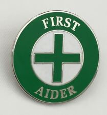 FIRST AIDER ENAMEL PIN BADGE - 1st AID HEALTH & SAFETY WE DONATE TO HELP THE NHS