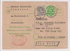 Bizone/AM-Post, Mi. 11,19 a. P 783I, KGF-PK Elmshorn - Frankreich,nicht zulässig