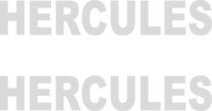 2 x HERCULES Aufkleber 100 mm x 17 mm -viele Farben