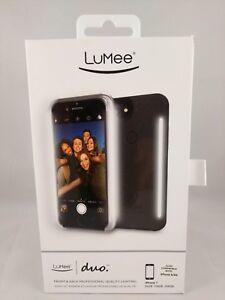 LuMee Duo Case For iPhone 6,6s,7,8 (Black)