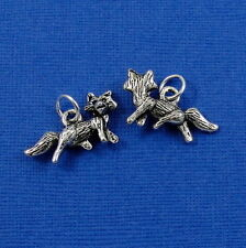 Silver Cute FOX Wild Animal CHARM PENDANT