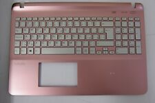 New Sony Vaio SVF1521C5E Pink Palmrest Czech Backlit Keyboard A1960090A