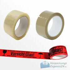 66m Klebeband Paketband Paketklebeband Packband Packrolle leise Vorsicht Glas