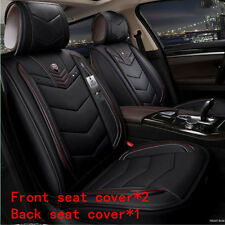 Standard Edition 5-Seat Car Seat Cover Cushion Non-slip Microfiber Leather Black