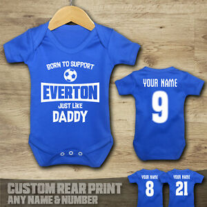 Everton - Born to Support - Baby Vest Suit Grow