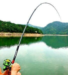 Fishing Rod Pole Spinning Telescopic Extendable Carbon Fiber Sliding Reel Base S