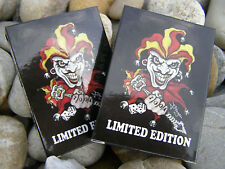 6 x TATTOO Karten Pokerkarten 100% Plastik Spielkarten No Risk No Fun LIMITED