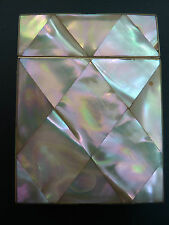 LARGE VICTORIAN MOTHER OF PEARL CARD CASE