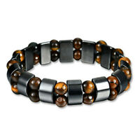 Magnetic Bracelet Black Hematite Stone Therapy Health Care Weight Loss Jewelry