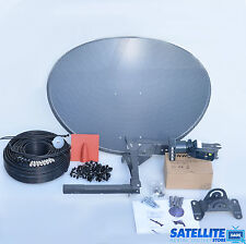 Freesat / Sky 60cm zone 1 satellite dish & quad lnb + 20m twin black install kit