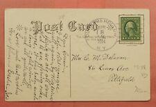 1914 DPO 1908-1918 DUNHAMS HOLLOW NY CANCEL EASTER POSTCARD