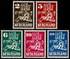 ✔️ NETHERLANDS 1950 - SEMI POSTALS CHURCHES TOP SET - NVPH 556/560 ** MNH OG