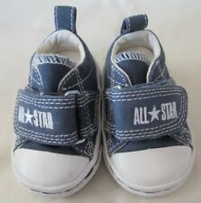 CONVERSE ALL STAR Baby Toddler Size 2 Blue Gray Canvas Shoes