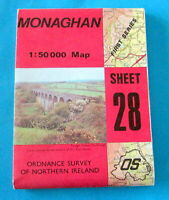 Ordnance Survey MONAGHAN MAP  - NORTHERN IRELAND Sheet 28 - Cty Armagh Monaghan