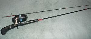 "Vintage KYOTO Fishing Rod and Reel. SC103 2 pc 4' 10"" Japan"