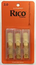 Rico Bb Clarinet Reeds #2 (3-Pack) NEW rca0320