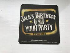 BRAND NEW  JACK DANIELS BIRTHDAY BEERMAT FROM SEPTEMBER 2014
