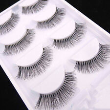 5 Pairs/Pack Makeup Sparse Cross Black Eye Lashes Extension Long False Eyelashes