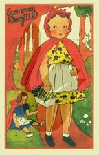 Vintage Economy Design Little Red Riding Hood Doll Sewing Pattern
